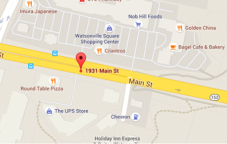 Map of Santa Cruz Watsonville Medical Offices